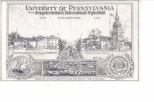 University Of Pennsylvania   1926 Sesquicentennial Exposition Philadelphia