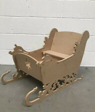 Large MDF Freestanding Santa Christmas Sleigh - Ideal for craft & decoupage 3D