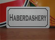 Haberdashery Metal Sign Vintage Style Design