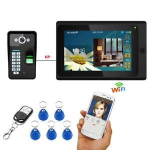 Door Phone Doorbell Wired Wifi Fingerprint RFID Password Video Inter