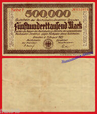 GERMANY REICHSBAHN Dresden 500000 mark 1923 VF