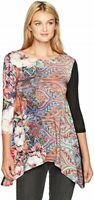 Womens Picos Freya Knitted 3/4 Sleeve Top Black Size Small DESIGUAL $99 - NWT