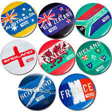 Rugby World Cup 2015 Country Button Badges - Full Set of 8