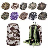 Waterproof Dust Rain Poncho Backpack Cover Travel Camping Hiking Bag 20-45L Camo