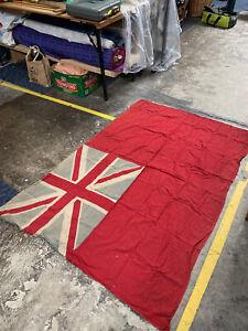 Large Vintage Red Ensign Flag