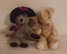 Boyds Bear and Friends Bear J.B. Bean Rabbit Lot of 2 Plush Stuffed Animals New