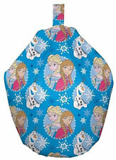 Disney Frozen Beanbag - Anna Elsa Olaf Blue Bedroom Seat Chair Snowflakes