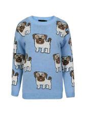 L Damen-Pullover & -Strickware mit Rundhals-Ausschnitt und Tiermuster