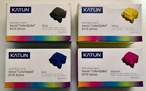 (4) 2-Packs Katun Xerox ColorQube 8570 Series Yellow Magenta Cyan Black
