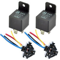 New Car 2Pack 12V 40A 40 A SPST Relay & 2 Pack Socket 4Pin 4P 4 Wire