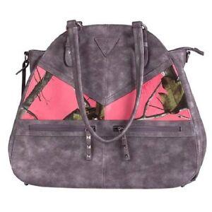 Browning Kendall Coral Pink CCW Handbag, Concealed Carry Gun Purse Camo Large