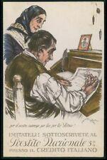 b art Mazza Political patriotic fund loan rising WWI ww1 war old c1915 postcard