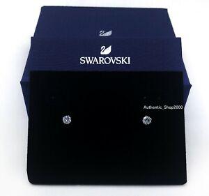 New Authentic SWAROVSKI Brand Rhodium Attract Round PE Stud Earrings 5408436