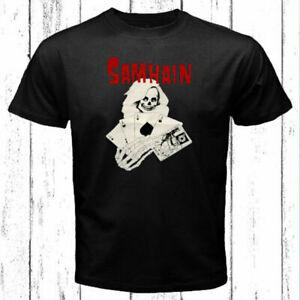 Samhain Logo Unisex Black T-Shirt Size S-5XL