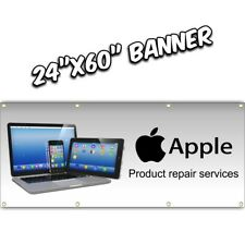 APPLE COMPUTER REPAIR BANNER cell phone laptop tablet service  24x60