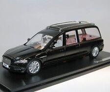 GLM, Jaguar XJ (x351) Wilcox Eagle Hearse, Black, coche fúnebre, 1/43 funeraria