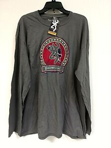 Browning Men's Clark Long Sleeve T-Shirt, Gray , Size 2XL - 0H_14