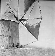PENICHE c. 1950 - Moulin à Vent Portugal - Négatif 6 x 6 - Por 399