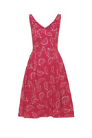 Emily and Fin Red Watermelons Valerie Dress Size XS
