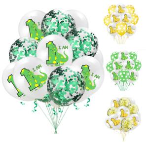 Dinosaur First 1st Birthday 1 Boy Girl Confetti Balloons Baby Party Decoration X