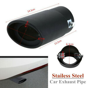 63mm Stailess Steel Car Vehicle Exhaust Pipe Inlet Tips Muffler Pipe Tail Throat