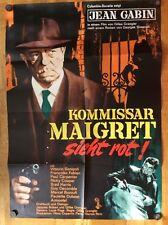 Kommissar Maigret sieht rot (Kinoplakat '63) - Jean Gabin / Vittorio Sanipoli
