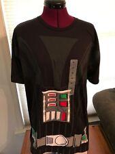 NWOT LICENSED STAR WARS DARTH VADER COSTUME 100% COTTON Black T-Shirt SZ XL