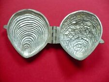 Antique Pewter Ice Cream Mold Oyster Shell Marked 145 Excellent Condition