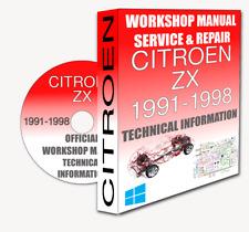 Service Workshop Manual & Repair Manual CITROEN ZX 1991-1998 +WIRING