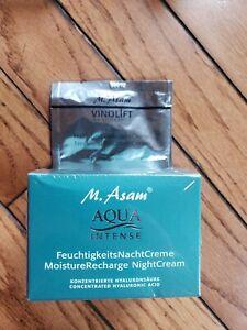 M.Asam Aqua Intense Moisture Recharge Night Cream Hyaluronic Acid SEALED Bonus