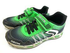 GEOX Halbschuhe Sneaker Leder Schuhe LED grün Gr. 31  Art 001