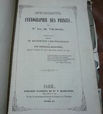 Dewikographie sténographie des princes Irma De WIK-POTEL 1853