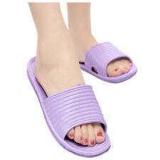 Soft Women Bath Slippers Sandals Bathroom Shoes Flip Flops size:36 purple O9G6