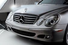 Sport Grille Black Chrome Trim For Mercedes Benz W211 E Class E320 E500 02-05