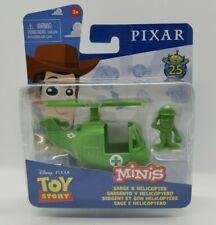 Disney Pixar Toy Story Minis w/ Vehicle Sarge & Helicopter Army Man