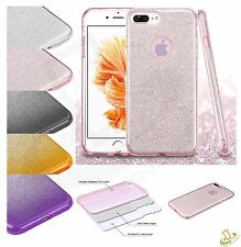 Apple iPhone 5 5s SE Bling Hybrid Glitter Rubber TPU Protective Hard Case Cover