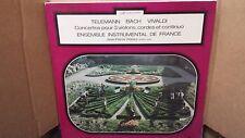 ENSEMBLE INSTRUMENTAL DE FRANCE - CONCERTOS 3 VIOLONS WALLEZ LP VINYL EX/EX 7246