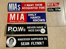 Vintage & Original Pow-Mia Bumper Stickers Vietnam War Era