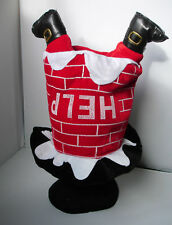 New Help! Plush Santa Stuck Down the Chimney Christmas Hat Novelty Fancy Dress