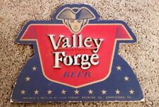RARE VALLEY FORGE BEER ADVERTISING SIGN ADAM SCHEIDT BREWING CO NORRISTOWN PA