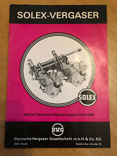 Solex-carburador flaschstrom Register carburador 18/32 HHD folleto NSU Wankel ro 80