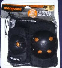 Mongoose- Bmx-Knee & Elbow pads-High Impact Shell-Black/orange-Nwt(B7 )