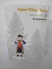 Dept 56 Alpine Village The Burgermeister 6000566 New Mip
