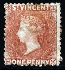 ST. VINCENT QV 1862 One Penny Rose-Red No Watermark Perf 12½ SG 5 MNG