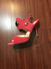 NWOB Brian Atwood Studded Pink Suede Sandals Heels Size 37.5