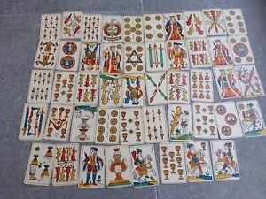 Ancien Jeu de Carte de l'Aluette Jeu de la Vache Grimaud Edition 48 cartes