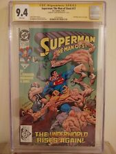 Superman: The Man of Steel #17 CGC 9.4 AUTOGRAPHED by LOUISE SIMONSON