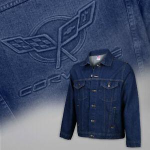 1997-2004 C5 Corvette Blue Denim Jacket Permanent Embossed Logo 604831