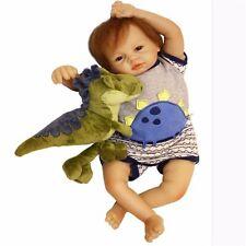 "Handmade Lifelike Baby Boy 22"" Silicone Vinyl bebe Reborn Newborn Dolls+Clothes✔"
