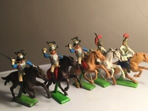 Britains Deetail Mounted Napoleonic set of 5 - Waterloo French Heavy Cavalry